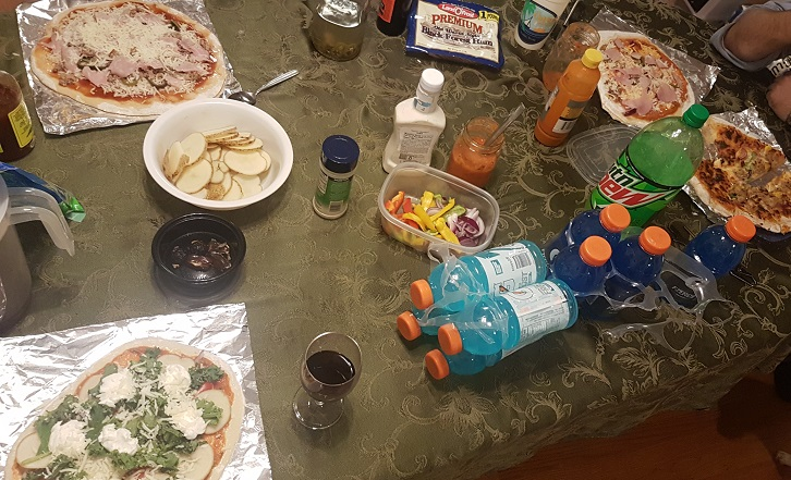 budget epicurean top pizza night