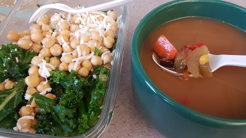 budget epicurean soup and salad