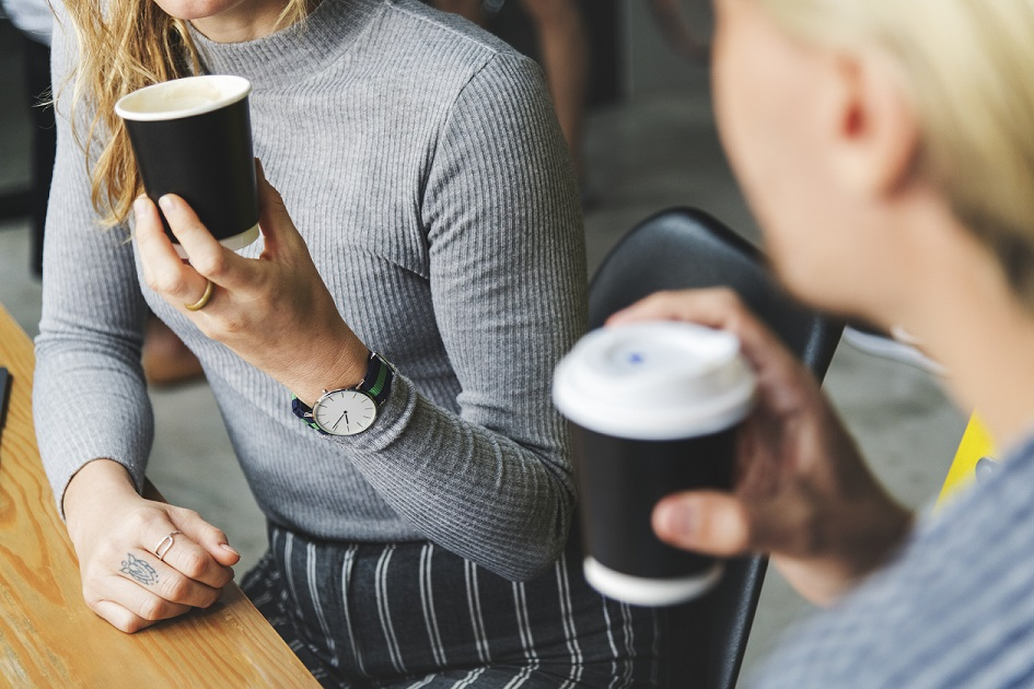 one small thing: reusable coffee mugs
