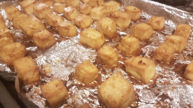 oven baked tofu