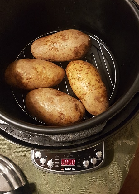 potatoes in a pressure cooker