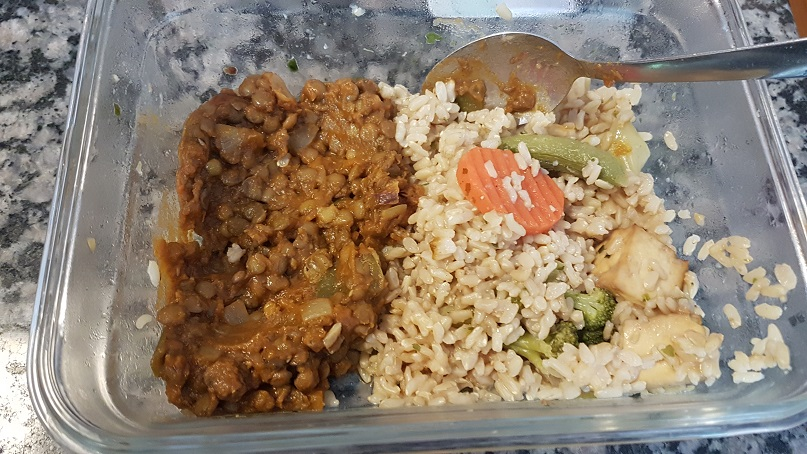 leftover lentils and rice