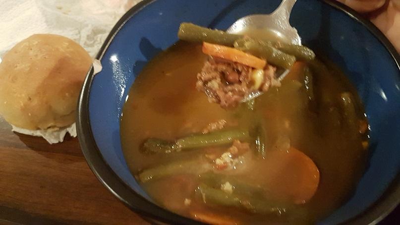 leftover beef veg soup