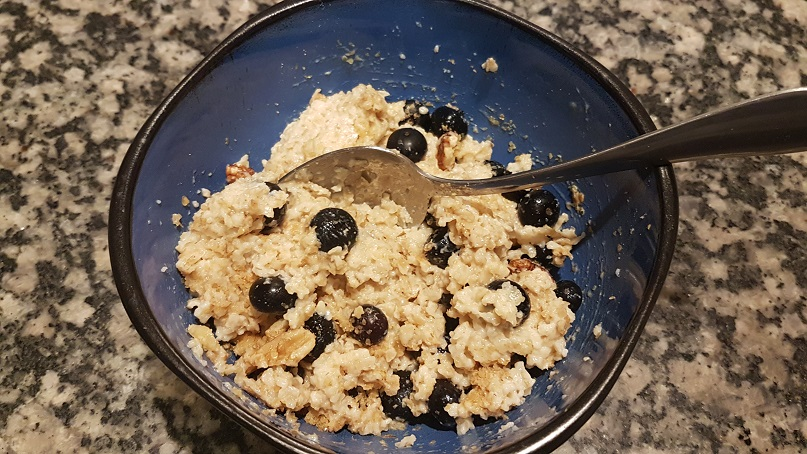 more blueberry oatmeal