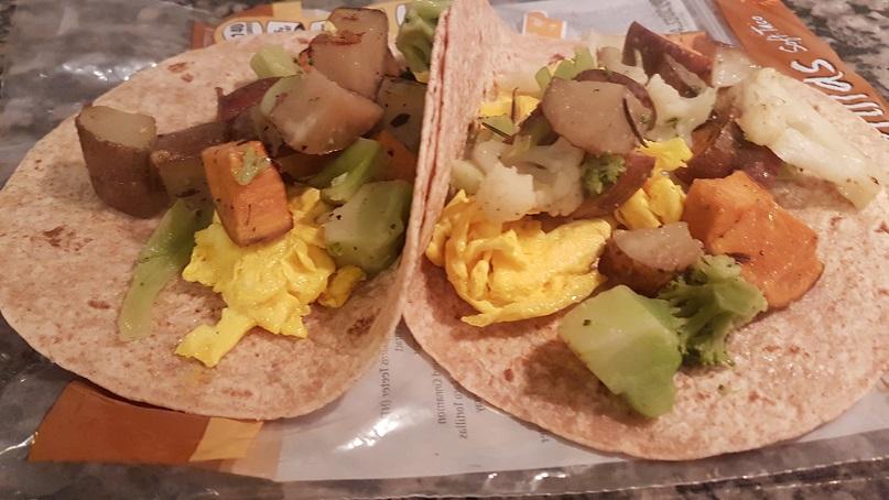 egg and potato boo rito