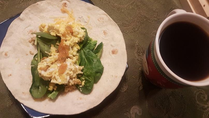 quail egg burrito