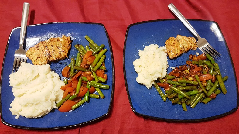 salmon potatoes and green beans