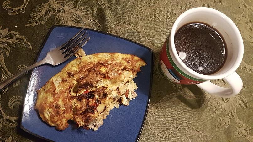 half an omelet