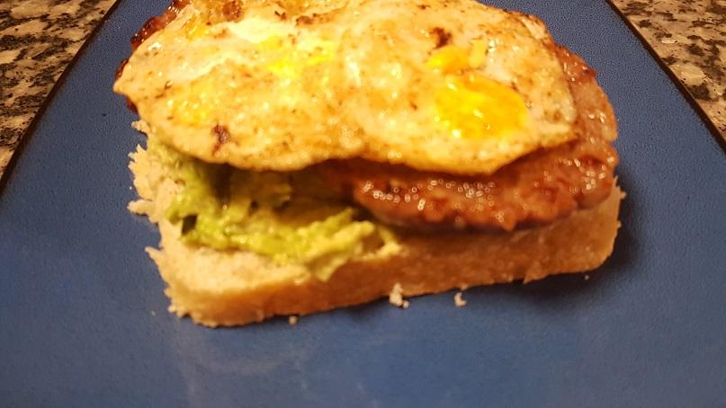 sausage egg sandwich